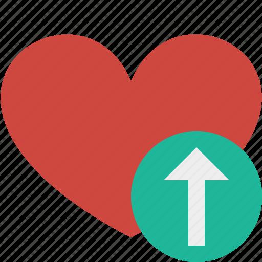 favorites, heart, love, upload, valentine icon