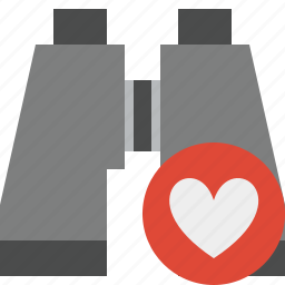 binocular, favorites, find, search, spyglass icon