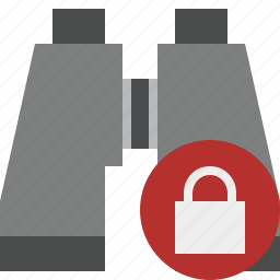binocular, find, lock, search, spyglass icon