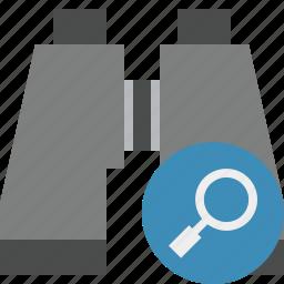 binocular, find, search, spyglass icon