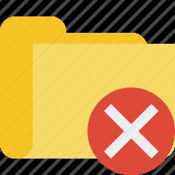 cancel, category, folder icon