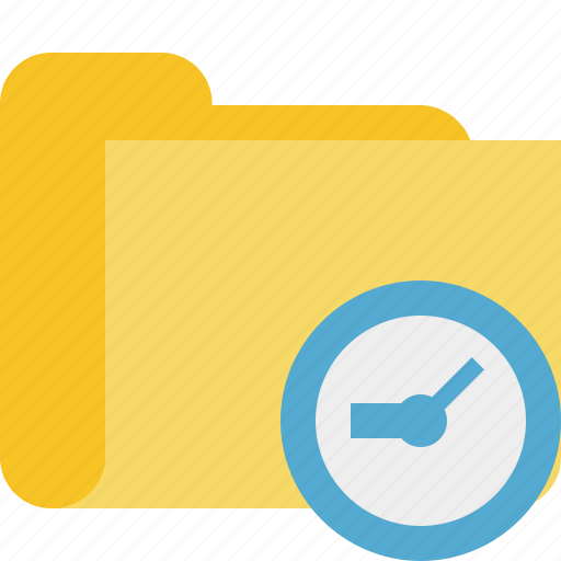 category, clock, folder icon