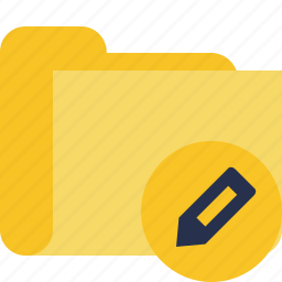 category, edit, folder icon
