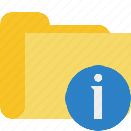 category, folder, information icon