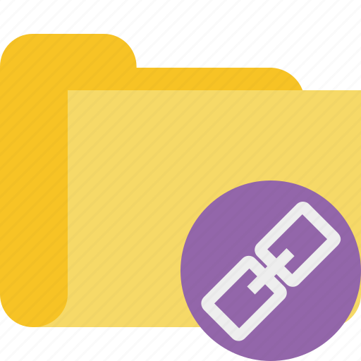 folder, link icon