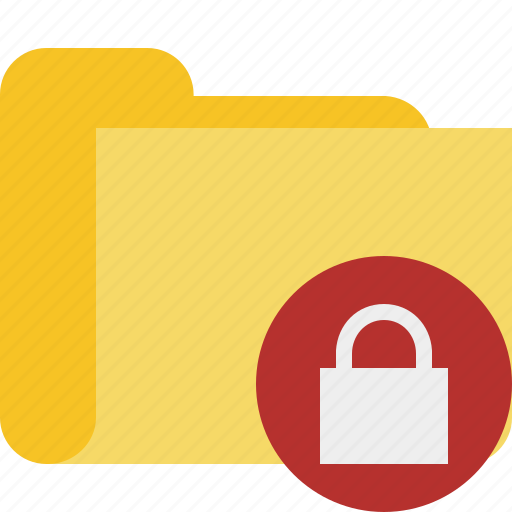 category, folder, lock icon