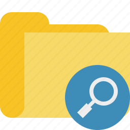category, folder, search icon