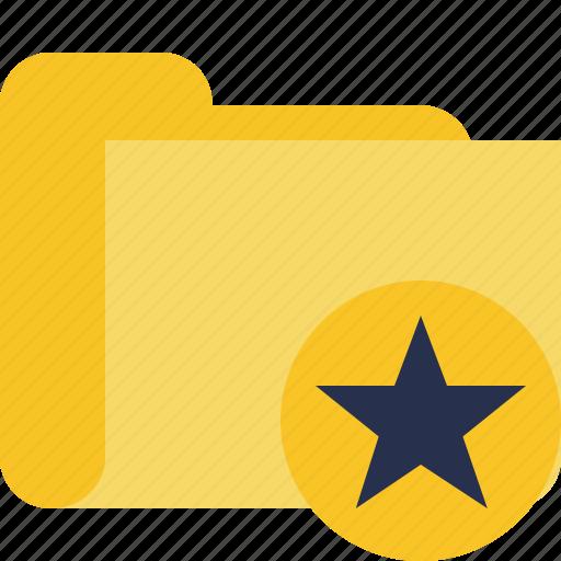 category, folder, star icon