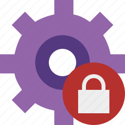 configuration, lock, options, preferences, settings, system icon