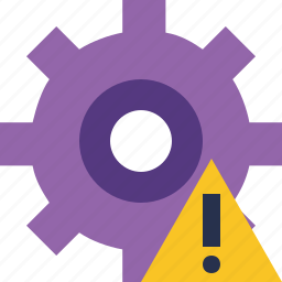 configuration, options, preferences, settings, system, warning icon