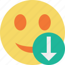 download, emoticon, emotion, face, smile icon
