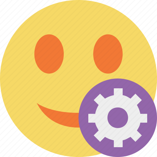emoticon, emotion, face, settings, smile icon