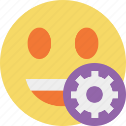 emoticon, emotion, face, laugh, settings, smile icon