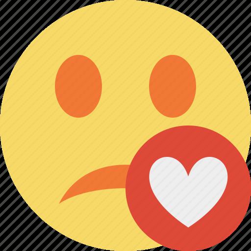 emoticon, emotion, face, favorites, smile, unhappy icon