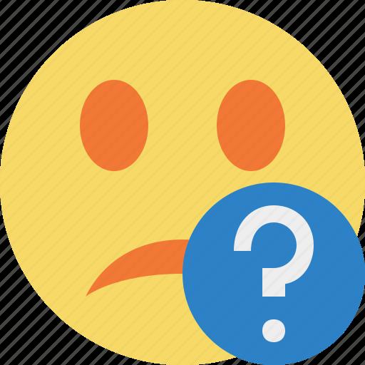 emoticon, emotion, face, help, smile, unhappy icon