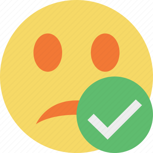 emoticon, emotion, face, ok, smile, unhappy icon