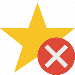 achievement, bookmark, cancel, favorite, rating, star icon