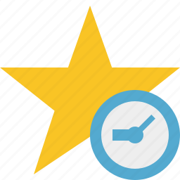 achievement, bookmark, clock, favorite, rating, star icon