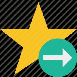 achievement, bookmark, favorite, next, rating, star icon