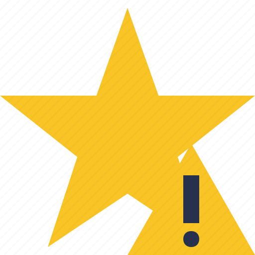 achievement, bookmark, favorite, rating, star, warning icon
