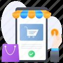 mobile big sale, mcommerce, mobile shopping, eshopping, select product icon