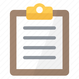 clipboard, note, office, paper, report, text, write icon