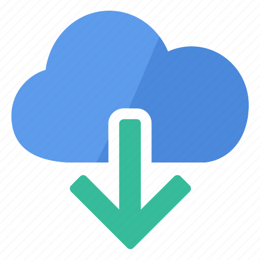 cloud, data, document, download, file, information, storage icon