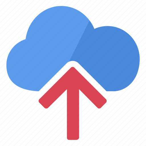 arrow, cloud, data, database, information, storage, upload icon