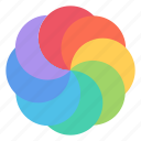 colorful, colors, graphic, paint, painting, palette, rainbow icon
