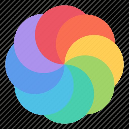 colorful, colors, graphic, paint, painting, palette, rainbow icon