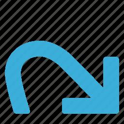 again, arrow, command, forward, next, redo icon