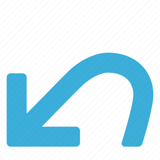 arrow, back, backwards, command, sign, undo icon