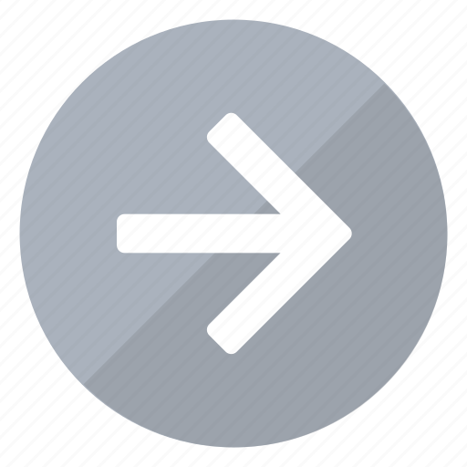 arrow, direction, marker, navigation, pointer, right, trend icon