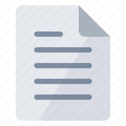 document, documents, gray, paper, portrait, sheet, text icon