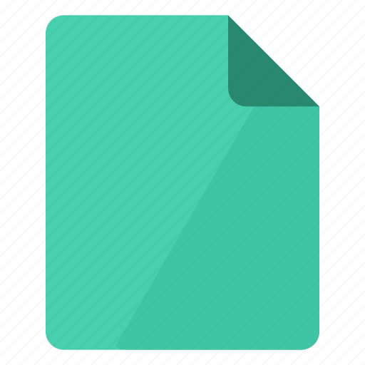 document, documents, file, green, paper, portrait, sheet icon
