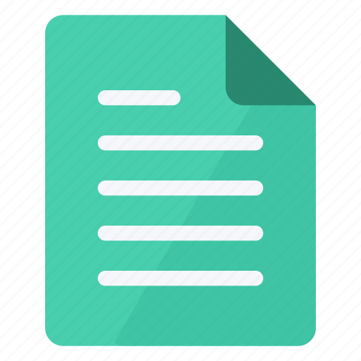document, file, green, paper, portrait, sheet, text icon