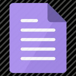 document, documents, magenta, paper, portrait, sheet, text icon