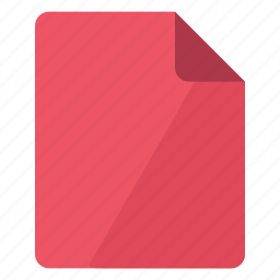 document, documents, file, page, portrait, red, sheet icon
