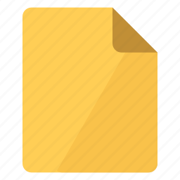 document, documents, file, paper, portrait, sheet, yellow icon