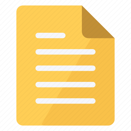 document, file, paper, portrait, sheet, text, yellow icon