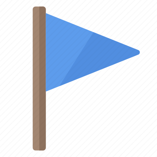 blue, flag, important, location, marker, rally icon