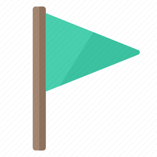flag, green, important, location, marker, rally icon