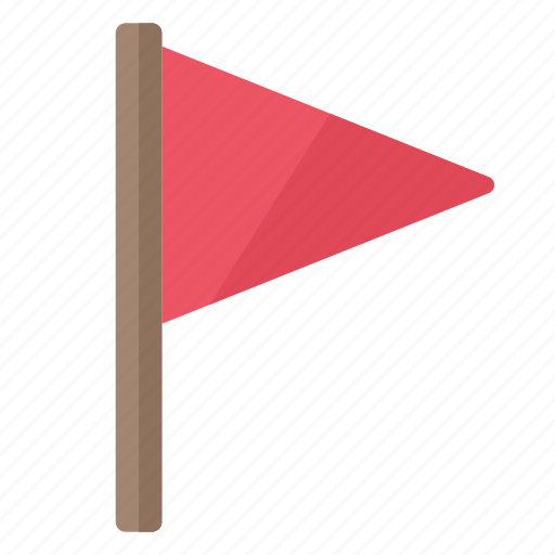 flag, important, location, marker, rally, red icon