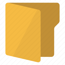 document, file, folder, open, vertical icon
