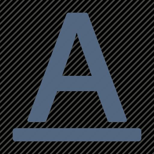 bill, font, letter, number, underline icon