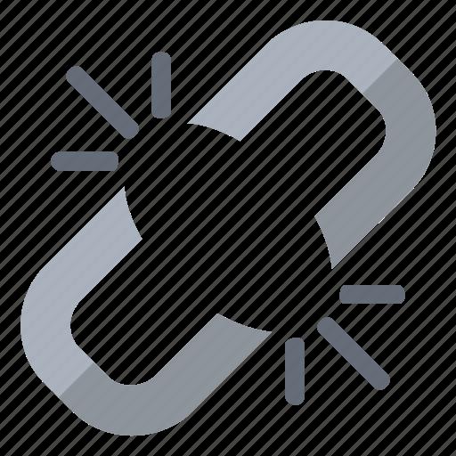 broken, chain, link, steel icon