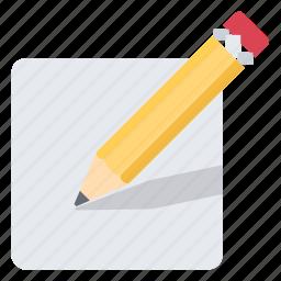 document, edit, new, paper, pen, pencil, write icon