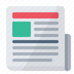 article, head, media, news, newspaper, text, titles icon