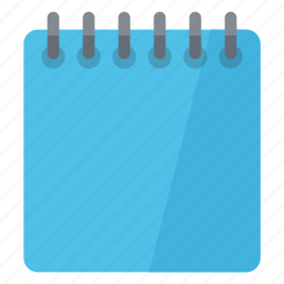 blue, document, notebook, notepad, notes icon