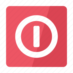 off, on, power, rounded, square, switch icon